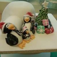 Baby's First Christmas Christmas cake made for my friends who are celebrating their first christmas with their new baby. Cake is vanilla and white chocolate with...