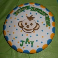 Monkey Cake Made this cake for a coworker's little boy's 1st bday party. She loved it!