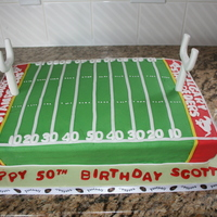 Football Birthday Cake This cake was made for my brother inlaws 50th birhday
