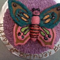 Butterfly/flower Cake Flower is a Chocolate cake with oreo filling, butter cream icing. Butterfly is vanilla cake with butter cream frosting. Thank you for...