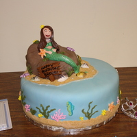 Mermaid Cake Made this for my daughter's 7th birthday. Lemon cake with cream cheese icing under MMF.
