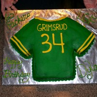 Packers Birthday Cake I made this for my little brother's birthday. He plays for the Packers in the Little Guy Football league. Its Chocolate & White...