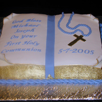 Michael's Communion Buttercream Icing with Fondant Top Pages & Decoratins