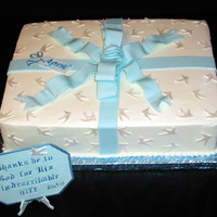 Gift Bt Buttercream Icing with Fondant Decorations