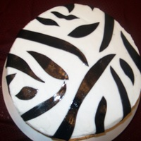 Zebra Stripped Cake Top view