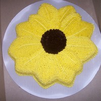 Sunflower This was my attempt at a sunflower. I didn't have a sunflower pan, so I used my poinsettia pan.
