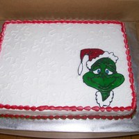 Grinch Cake This is a holiday cake I made for my daughter's 4-H holiday party. The Grinch came out darker than I would have liked. It was...