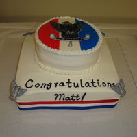 Eagle Scout Badge Buttercream with fondant designs