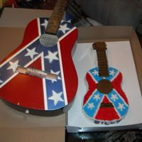 Guitar Cake My nephew painted the guitar, so I made his birthday cake a replica.