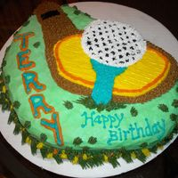 Golf Cake Golfer Birthday cake