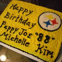 Steeler Birthday Cake