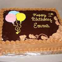 Chocolate Birthday Cake This chocolate buttercream is sooo yummy!