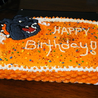 Bulldog Birthday Cake This was for my nephews birthday cake, i made a bulldog out of colorflow and a basket