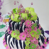 Zebra Birthday Cake My first zebra cake :)