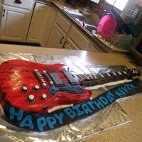 Guitar Birthday Cake  Wow, this was my first guitar cake and i loved how it came out. i made it for my boyfriends 20th birthday. its a real size guitar cake. its...