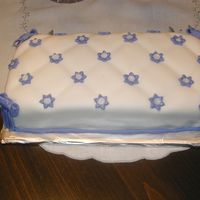 Baby Shower Pillow This cake was made for my sister low small Baby Shower party.It was vanilla Italian sponge cake, filled with orange custard and covered...