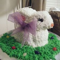 Easter Rabbit Cake I just completed course 1 when i made this cake.I made two!