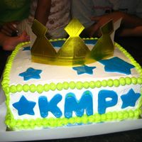 Prince 1St Birthday Cake Double layered french vanilla cake with pineapple filling and whipped cream frosting and mmf accents. This was my first time decorating a...