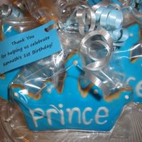Prince Crown Sugar Cookie Party Favors I made these for my baby's 1st birthday. It was a prince theme and these were the party favors that everyone took home. Sugar cookie...