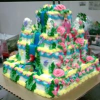 Princess Castle A large Disney Princess' cake I made while still at the bakery. It had all 4 sides, but didn't get a pic of all of them
