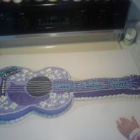 Hannah Montana Guitar cake for my niece.