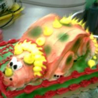 Rawr! LOL. Random cake when I was still working at a bakery.