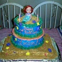 Little Mermaid London's 2nd Birthday cake.