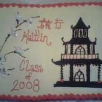 Kaitlin's Graduation Cake She was going to Japan for her graduation trip.