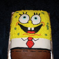 Sponge Bob Cake Buttercream icing, teeth made w/fondant! TFL!