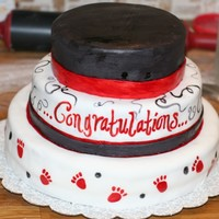Black And Red Graduation Cake