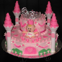 Princess Castle   BC Icing with Fondant Accents Cake is from the Wilton YearbookBaby Avery made from all fondant. Carriage made with all BC.