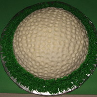 Golf Ball   Golf Ball made using half of the ball pan. All BC.