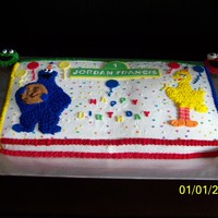 Sesame Street Birthday BC with some fondant decorations.