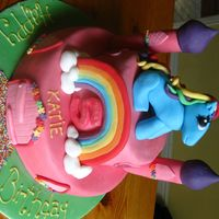 My Little Pony Castle Cake