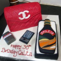 Channel Purse And Baileys Cake