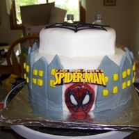 Spidy Cake Disaster This was for my 3 year old son's birthday. Got the idea from CC and did NOT do it justice. Luckily - all my son cared about was Spidey...