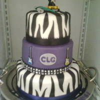 Rock And Roll Graduation Cake