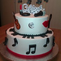 Music/mac Cake   Cake was for a husband and wife. Husband played piano and sang, she was a MAC sales rep. :)