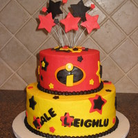 Incredibles Birthday Cake For Two