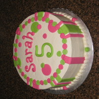 Pink And Green Birthday Girl Cake