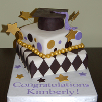 Graduation Cake I made this cake for a law school graduate. First time using an airbrush (for the gold), wires, and my Cricut machine (for the lettering...
