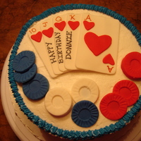 Poker Cake  This is a sugar free cake that I made for a diabetic. Yellow cake with buttercream. Only the cake was sugar free. He loves to play poker,...