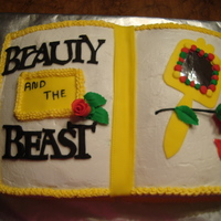 Beauty And The Beast This is a cake I made for the cast party, following a production of Beauty and the Beast, at a local private school. They asked for no...