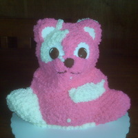 Pink And White Teddy Teddy cake for 4th birthday.