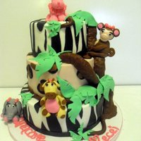 Jungle Baby Animal Cake