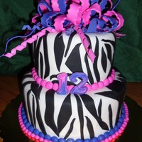 Zebra Stripes Zebra pattern with Pink and Purple bow
