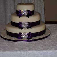 3 Tier Wedding Cake 6, 10, 14 (red velvet, vanilla, & chocolate) in that order. TFL