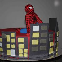 Spiderman Cake I made this spiderman cake for a friends son. He loved it!