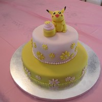 Pikachu Cake By special request for my niece. Pikchu is made from gumpaste, cupcake from fondant. I used MFF for the first time and I love it! It can...