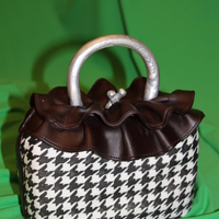 Houndstooth Check Purse Cake My own design made for a friend who loved the 80's!